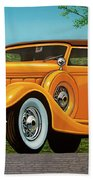Lincoln K Convertible 1935 Painting Bath Towel