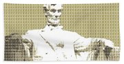 Lincoln Memorial - Gold Hand Towel