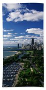 Lincoln Park And Diversey Harbor Bath Towel