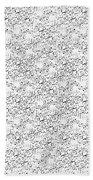 Linear Bulbs Pattern Whitesilver Black Bath Towel