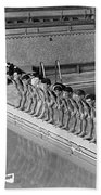 Lineup Of Ncaa Men Swimmers Bath Towel