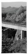 Linn Cove Viaduct Black And White Bath Towel