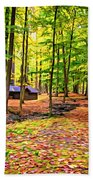 Linn Run Pennsylvania 2 - Paint Bath Towel