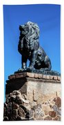 Lion At San Xavier Mission - Tucson Arizona Bath Towel