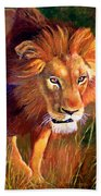 Lion At Sunset Bath Towel