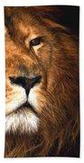 Lion Head Oil Painting Bath Towel