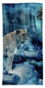 Lions Of The Mist Bath Towel