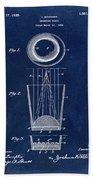 Liquershot Glass Patent 1925 Blue Bath Towel