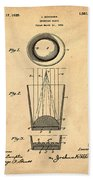 Liquershot Glass Patent 1925 Sepia Bath Towel
