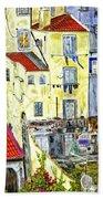 Lisbon Home Painting Bath Towel