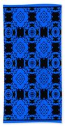 Little Blue Angels Abstract Bath Towel