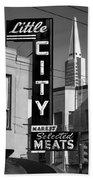 Little City Market North Beach San Francisco Bw Bath Towel