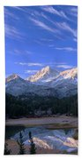 Little Lakes Valley Panorama Bath Towel
