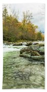 Little Pigeon River Greenbrier Area Of Smoky Mountains Bath Towel