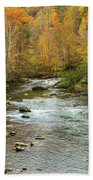 Little Pigeon River In Fall Smoky Mountains National Park Bath Towel