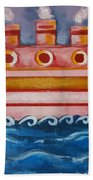 Little Pink Ship Bath Towel