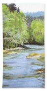 Little River Morning Bath Towel