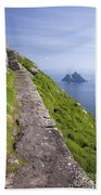 Little Skellig Island, From Skellig Michael, County Kerry Ireland Bath Towel