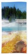 Live Dream Own Yellowstone Park Black Pool Text Bath Towel