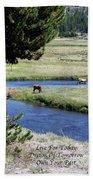 Live Dream Own Yellowstone Park Elk Herd Text Bath Towel