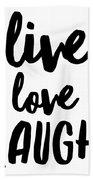 Live Love Laugh Hand Towel
