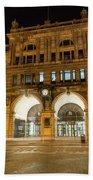 Liverpool Exchange Railway Station By Night Bath Towel