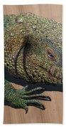 Lizard Art Work Bath Towel