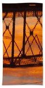 Llano Bridge Reflection Bath Towel