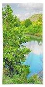 Llano River Scenic Bath Towel