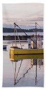 Lobster Boat Jonesport, Maine  Bath Towel