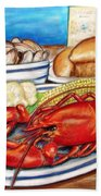 Lobster Dinner Bath Towel