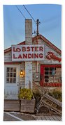 Lobster Landing Sunset Hand Towel