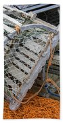 Lobster Traps Bath Towel