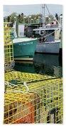 Lobster Traps In Galilee Bath Towel