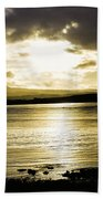 Loch Bracadale Sunset Bath Towel