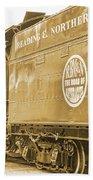 Locomotive And Coal Car Of Yesteryear Bath Towel