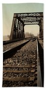 Locomotive Truss Bridge Bath Towel