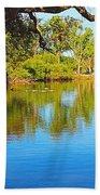Lodi Lake Morning Shadows And Reflections Hand Towel