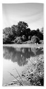 Lodi Pig Lake Reflections B And W Bath Towel