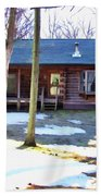 Log Cabin Bath Towel