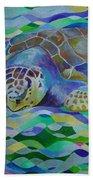Loggerhead Turtle Bath Towel