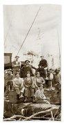 Logging, Clemons Camp No. 3 No. 1, Circa 1920 Bath Towel