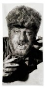 Lon Chaney, Jr. As Wolfman Bath Towel