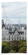 London Along The River Thames Bath Towel