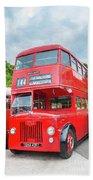 London Bus Bath Towel
