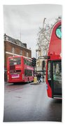 London Buses Bath Towel