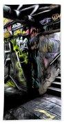 London Graffiti Art Bath Towel