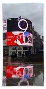 London Piccadilly On A Rainy Day Bath Towel