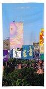 London Skyline Collage 1 Bath Towel