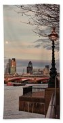 London Skyline From The South Bank Bath Towel